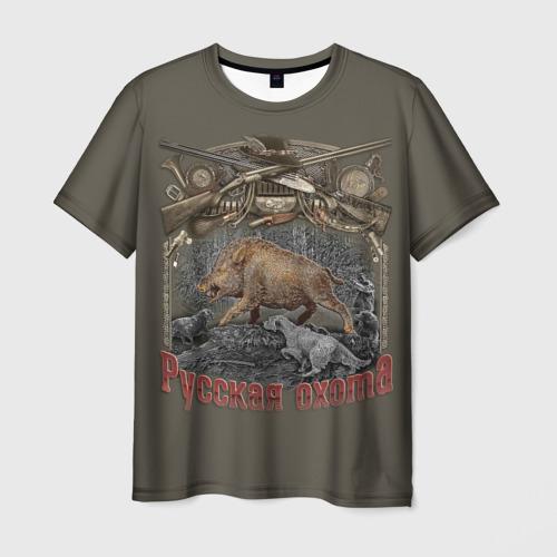 Мужская футболка 3D Русская охота