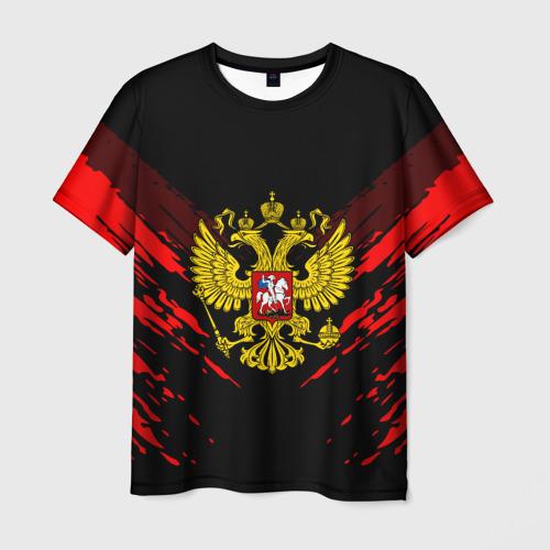 Мужская футболка 3D RUSSIA SPORT