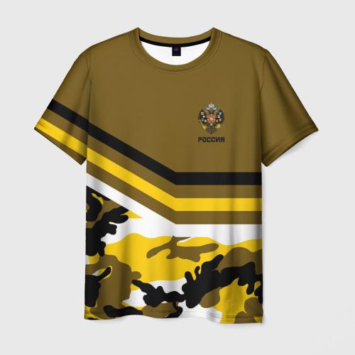 Мужская футболка 3D Камуфляж Российская Империя