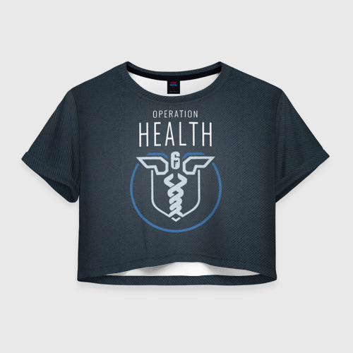 Женская футболка Crop-top 3D Operation health