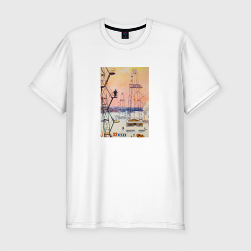 Мужская футболка хлопок Slim Ретро.