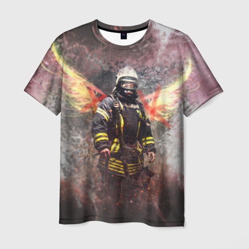 Мужская футболка 3D Пожарный