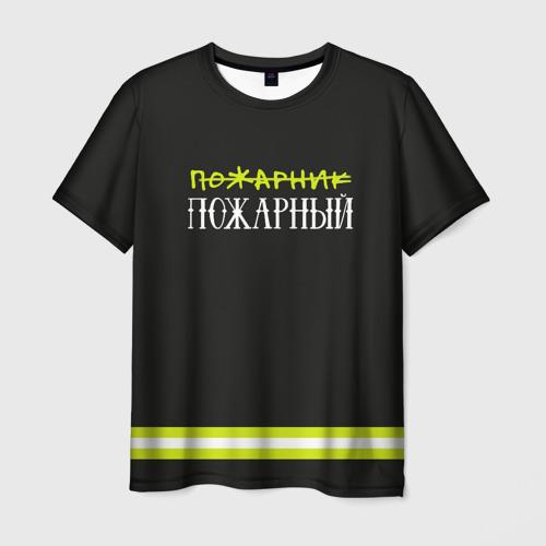Мужская футболка 3D пожарная форма