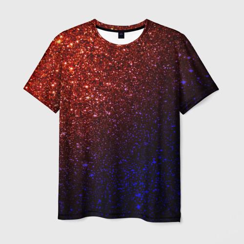 Мужская футболка 3D Из лавы в космос