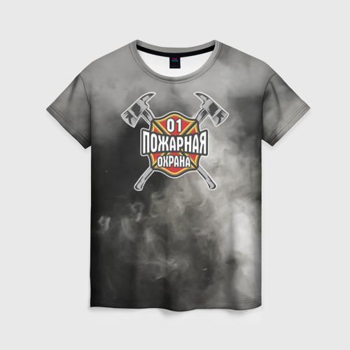 Женская футболка 3D пожарная охрана