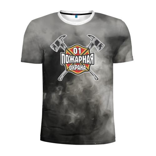 Мужская футболка 3D спортивная пожарная охрана