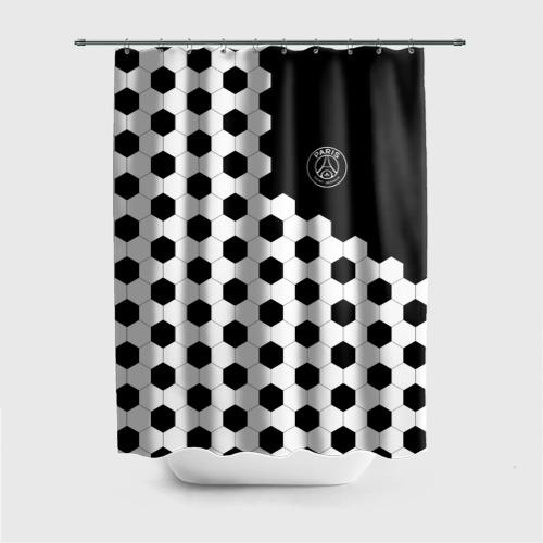 Штора 3D для ванной FC PSG