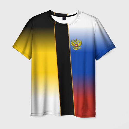 Мужская футболка 3D Флаги Российской Империи