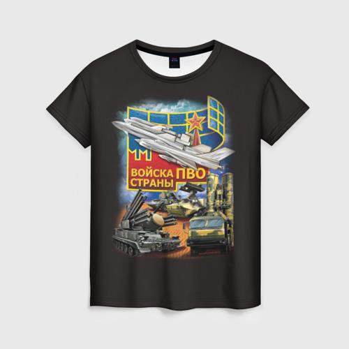 Женская футболка 3D Войска ПВО страны