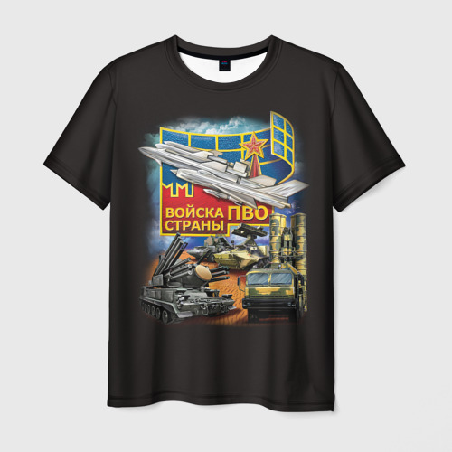 Мужская футболка 3D Войска ПВО страны