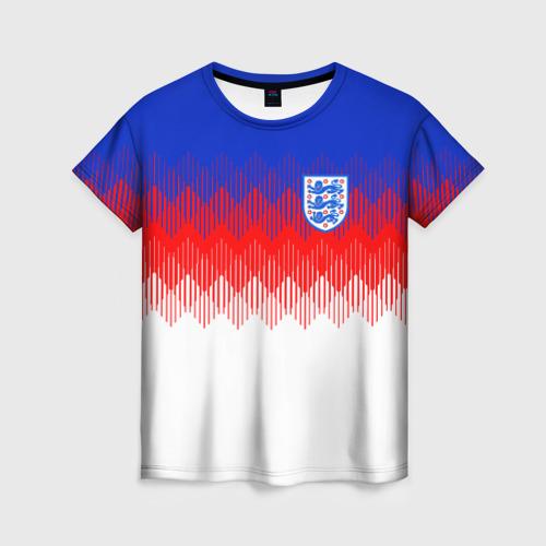 Женская футболка 3D Англия тренировочная форма ЧМ-2018
