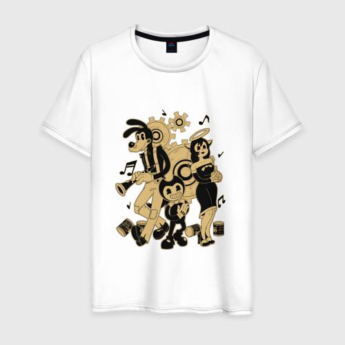 Мужская футболка хлопок Bendy and the ink machine (18)