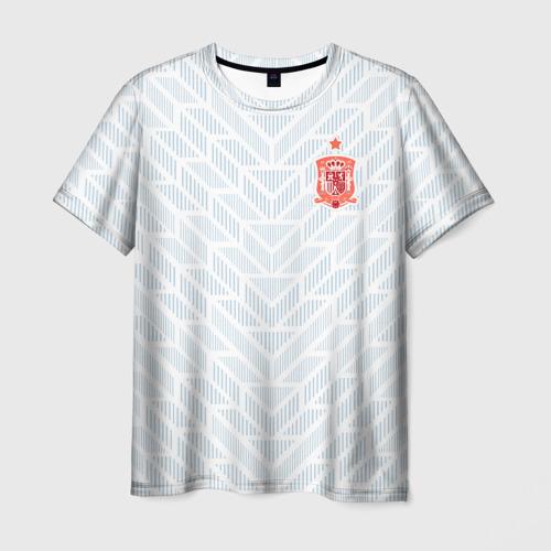 Мужская футболка 3D Сборная Испании - гостевая форма - ЧМ 2018