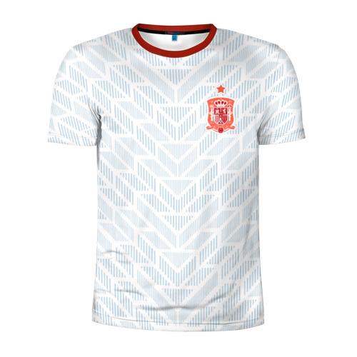 Мужская футболка 3D спортивная Сборная Испании - гостевая форма - ЧМ 2018
