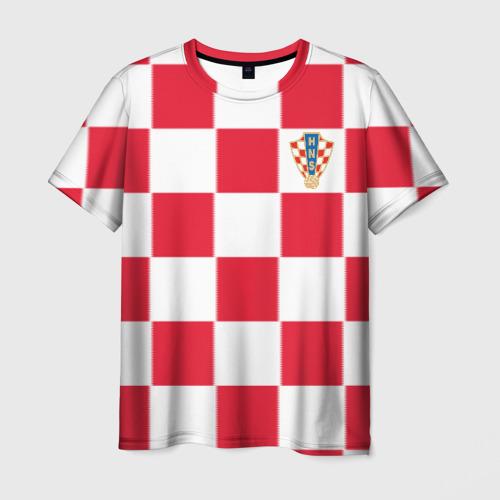 Мужская футболка 3D Хорватия домашняя форма 2018