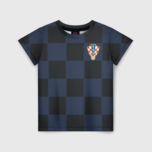 Детская футболка 3D Хорватия форма гостевая 2018