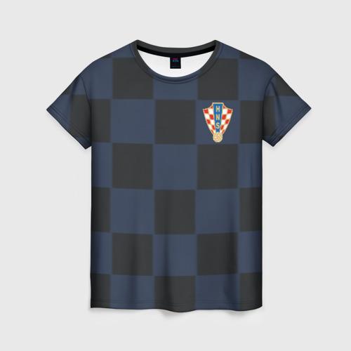 Женская футболка 3D Хорватия форма гостевая 2018