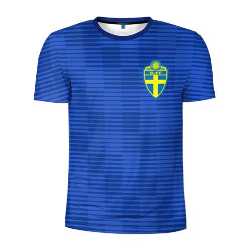 Мужская футболка 3D спортивная Швеция гостевая форма ЧМ 2018