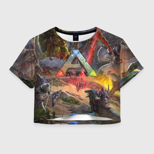 Женская футболка Crop-top 3D Ark: Survival Evolved