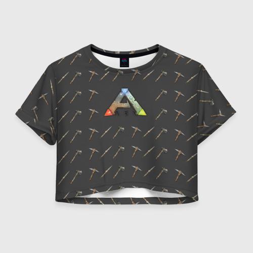 Женская футболка Crop-top 3D Ark Survival Evolved