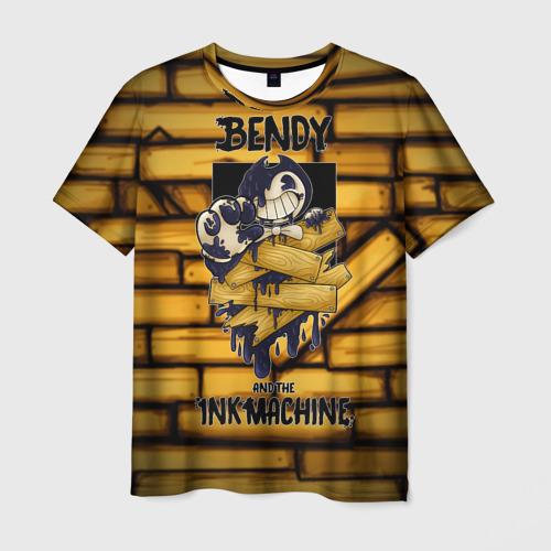 Мужская футболка 3D Bendy and the ink machine (26)
