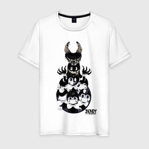 Мужская футболка хлопок Bendy and the ink machine (27)
