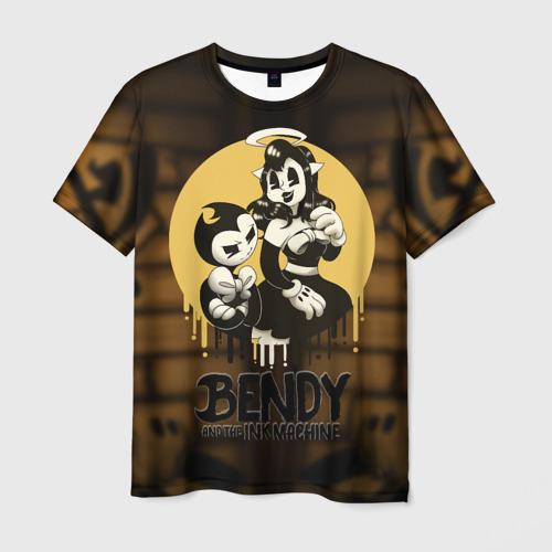 Мужская футболка 3D Bendy and the ink machine (30)