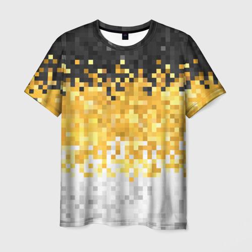 Мужская футболка 3D 1858 Имперский флаг пикселами