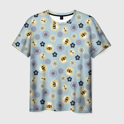 Мужская футболка 3D Пчелки