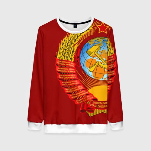 Женский свитшот 3D Герб СССР