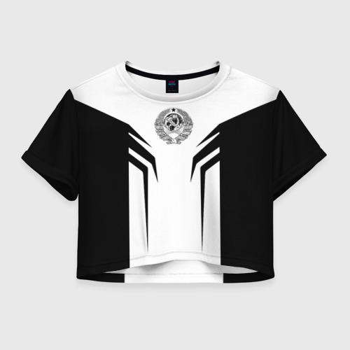 Женская футболка Crop-top 3D СССР,