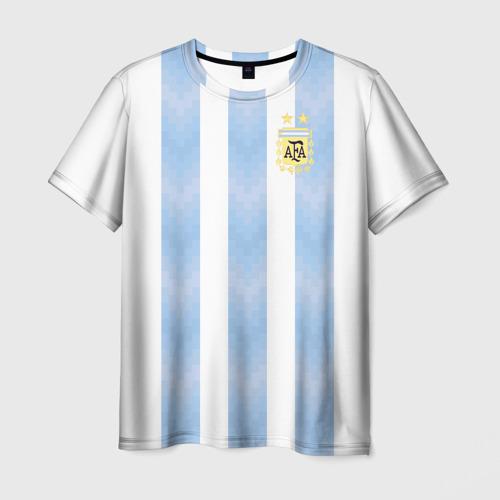 Мужская футболка 3D Сборная Аргентины