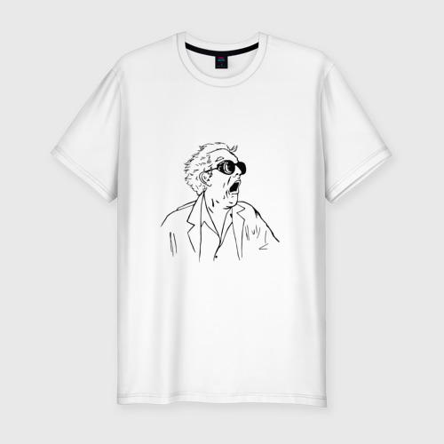 Мужская футболка хлопок Slim Док