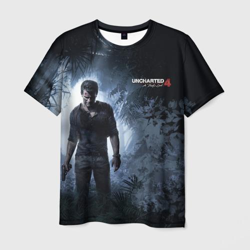 Мужская футболка 3D Drake in jungle