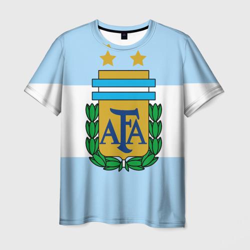 Мужская футболка 3D Сборная Аргентины флаг