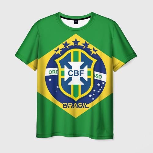 Мужская футболка 3D Сборная Бразилии флаг