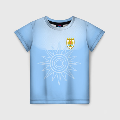 Детская футболка 3D Уругвай домашняя форма