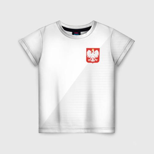 Детская футболка 3D Польша домашняя форма