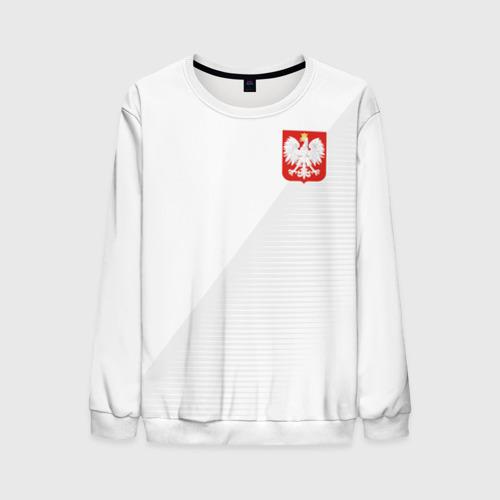 Мужской свитшот 3D Польша домашняя форма