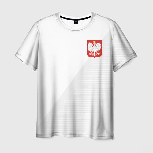 Мужская футболка 3D Польша домашняя форма