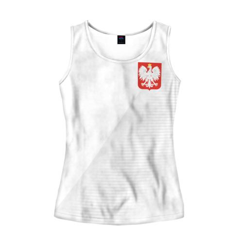 Женская майка 3D Польша домашняя форма