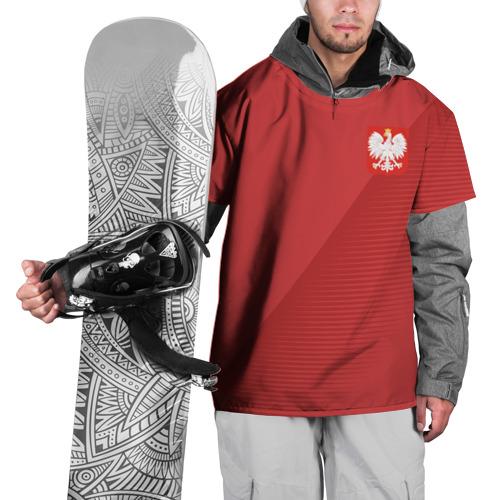 Накидка на куртку 3D Польша форма гостевая 2018
