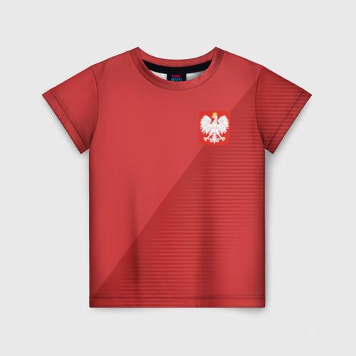 Детская футболка 3D Польша форма гостевая 2018