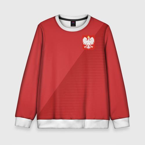Детский свитшот 3D Польша форма гостевая 2018