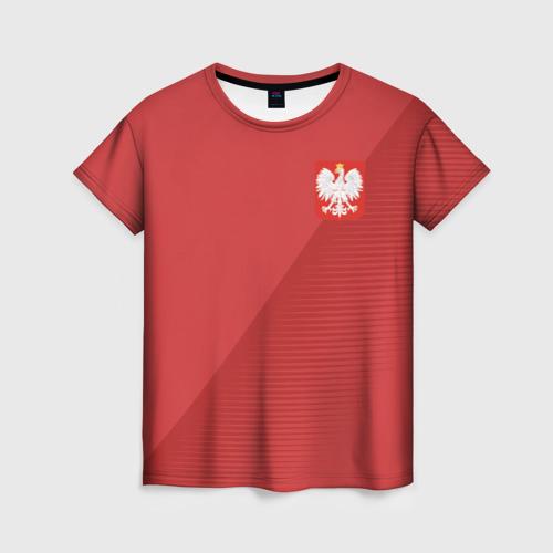 Женская футболка 3D Польша форма гостевая 2018