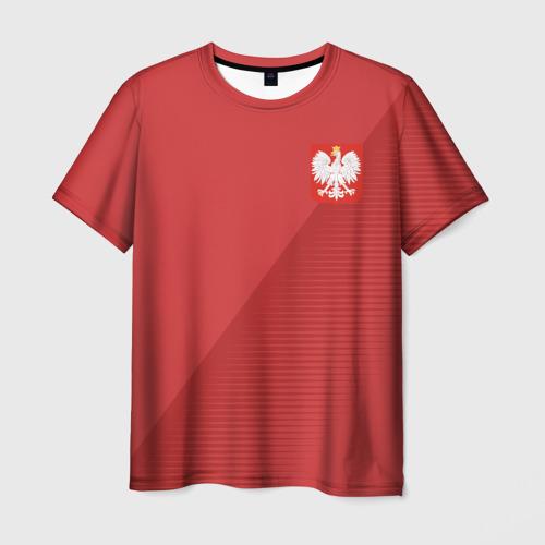 Мужская футболка 3D Польша форма гостевая 2018
