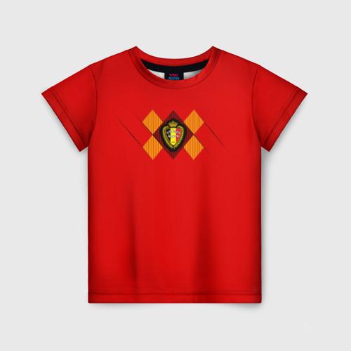 Детская футболка 3D Сборная Бельгии Home 2018
