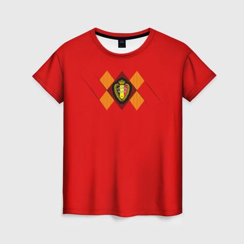 Женская футболка 3D Сборная Бельгии Home 2018