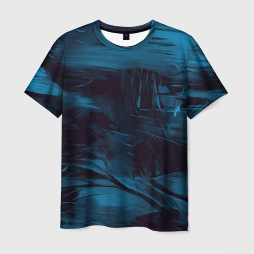 Мужская футболка 3D Холодные краски
