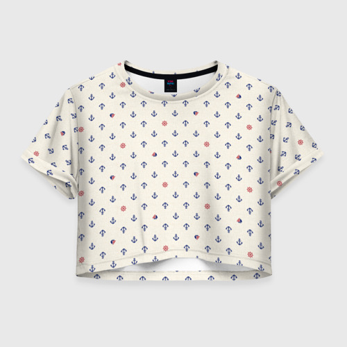Женская футболка Crop-top 3D Морячок